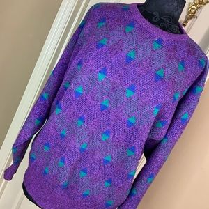 Jantzen Sweater Mens Size L Pullover Purple #L1